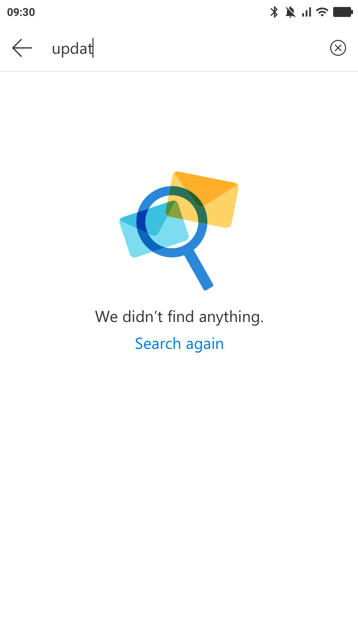 Outlook-Mobile-Web-No-Search-Result
